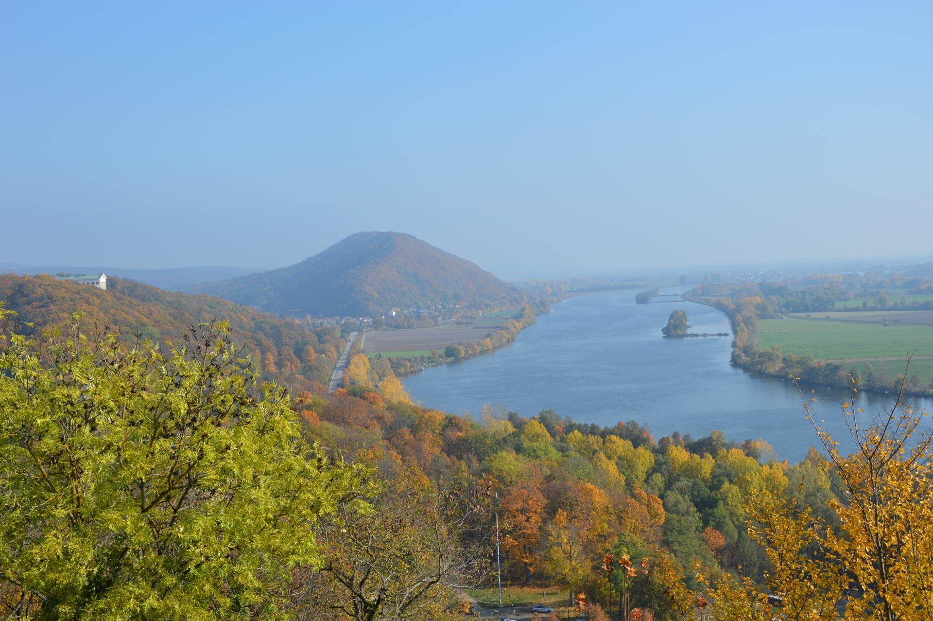 Panorama Blick auf Donau in Richtung Wörth a.D.