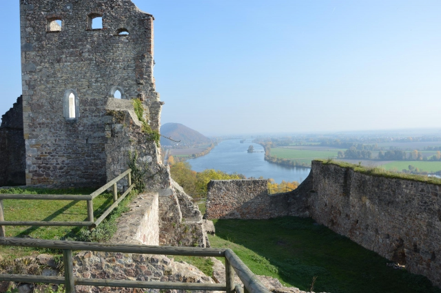 Panorama Blick auf Donau von Burg Donaustauf